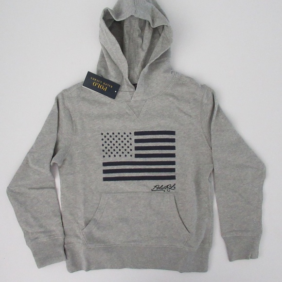 Polo by Ralph Lauren Other - Ralph Lauren Hooded US Flag Pullover Sweatshirt
